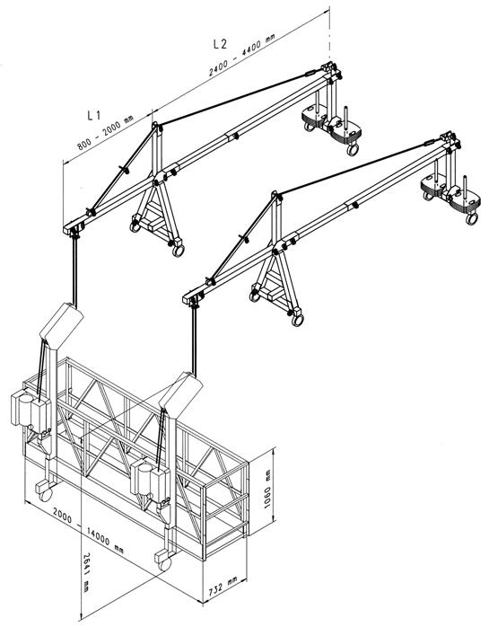 Подвесные платформы Geda AB 650 (одномоторные)