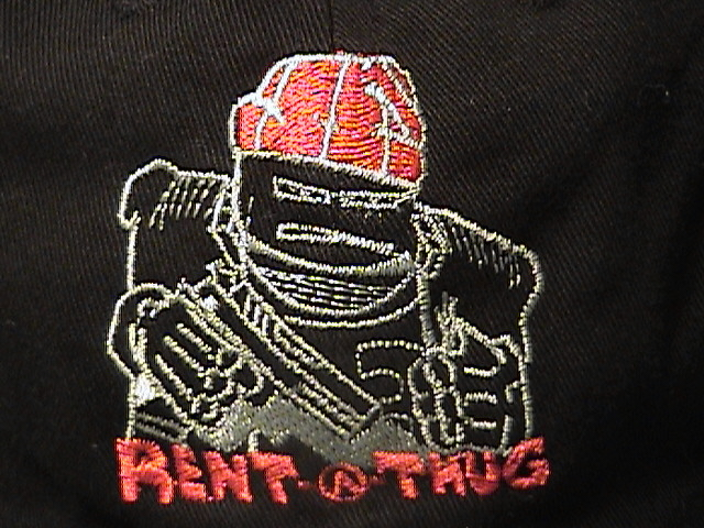 Rent-A-Thug hat closeup
