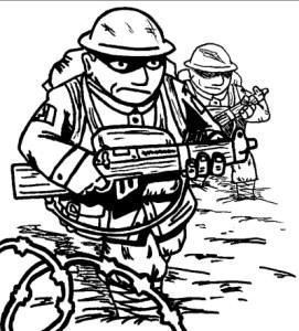 Canadian infantry advance through No Man\'s Land