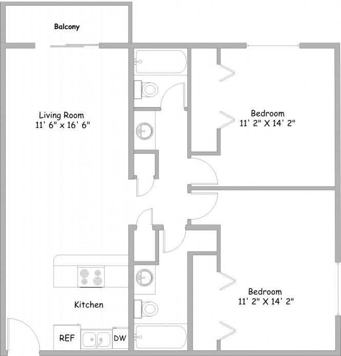 2 Bedroom Apartments College