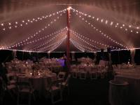 Bistro Lighting in A Tidewater Sailcloth Tent at Night ...