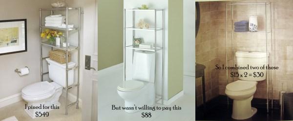 Bathroom Etagere Over Toilet