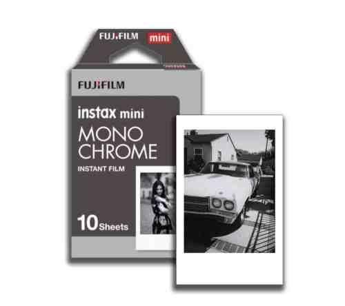 Fujifilm instax instant mini polaroid kaamera mustvalge fotopaber