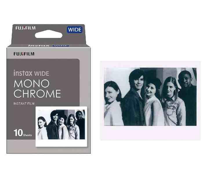 Fujifilm instax instant wide polaroid kaamera mustvalge paber