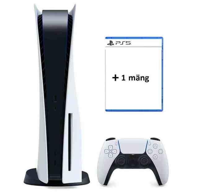 Sony Playstation PS5 mängukonsooli rent