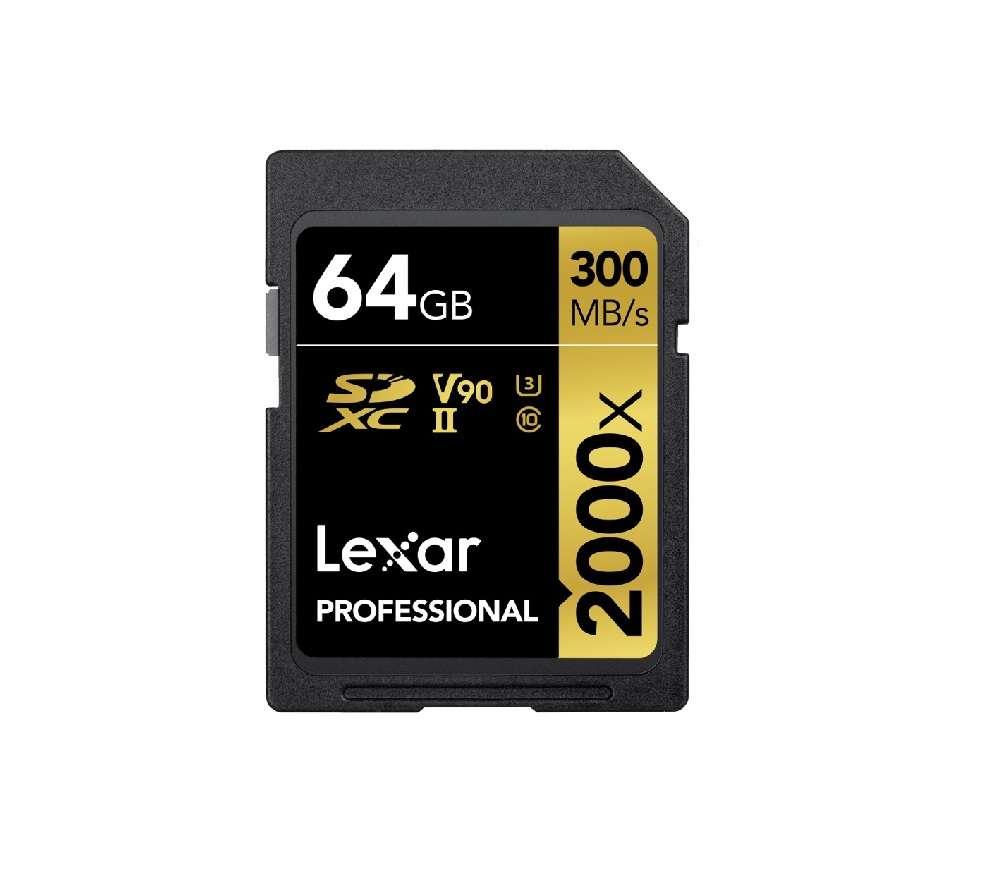Lexar 64GB SD mälukaardi rent R-300MB s W-260MB s
