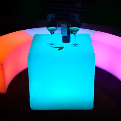 Glowing coffee tables for rent