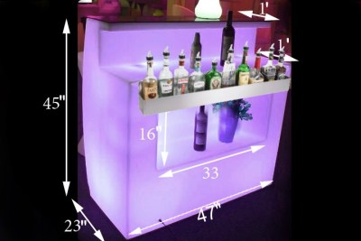 Illuminated bar rental
