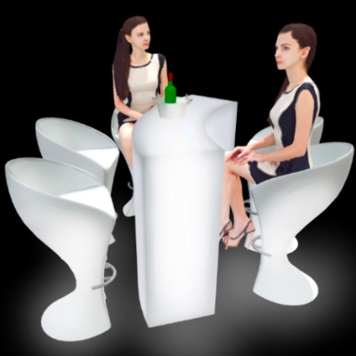 LED Party Cocktail Table for rent