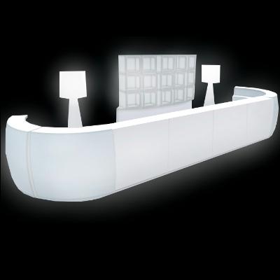 LED Bar with back bar for rent