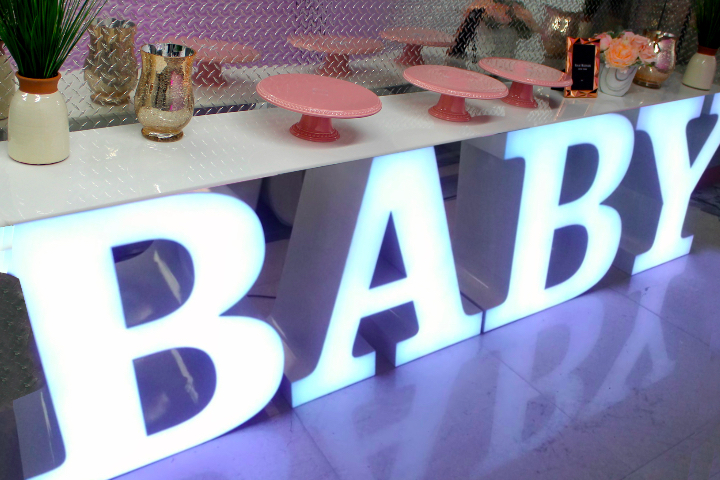 Led Letter Table Quot Baby Quot Rental Delivery 7 Days A Week