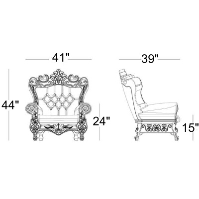 Queen throne chair rental