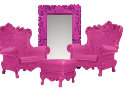 pink throne chairs rentals