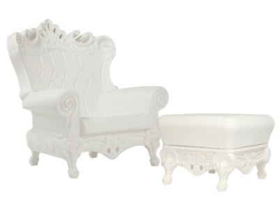 White throne rental for baby shower