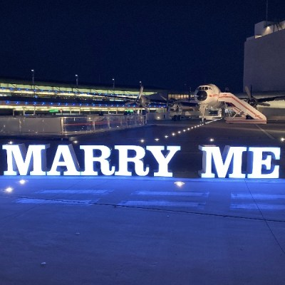 LED Marry Me sign rental