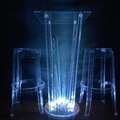 LED Acrylic High tables rental