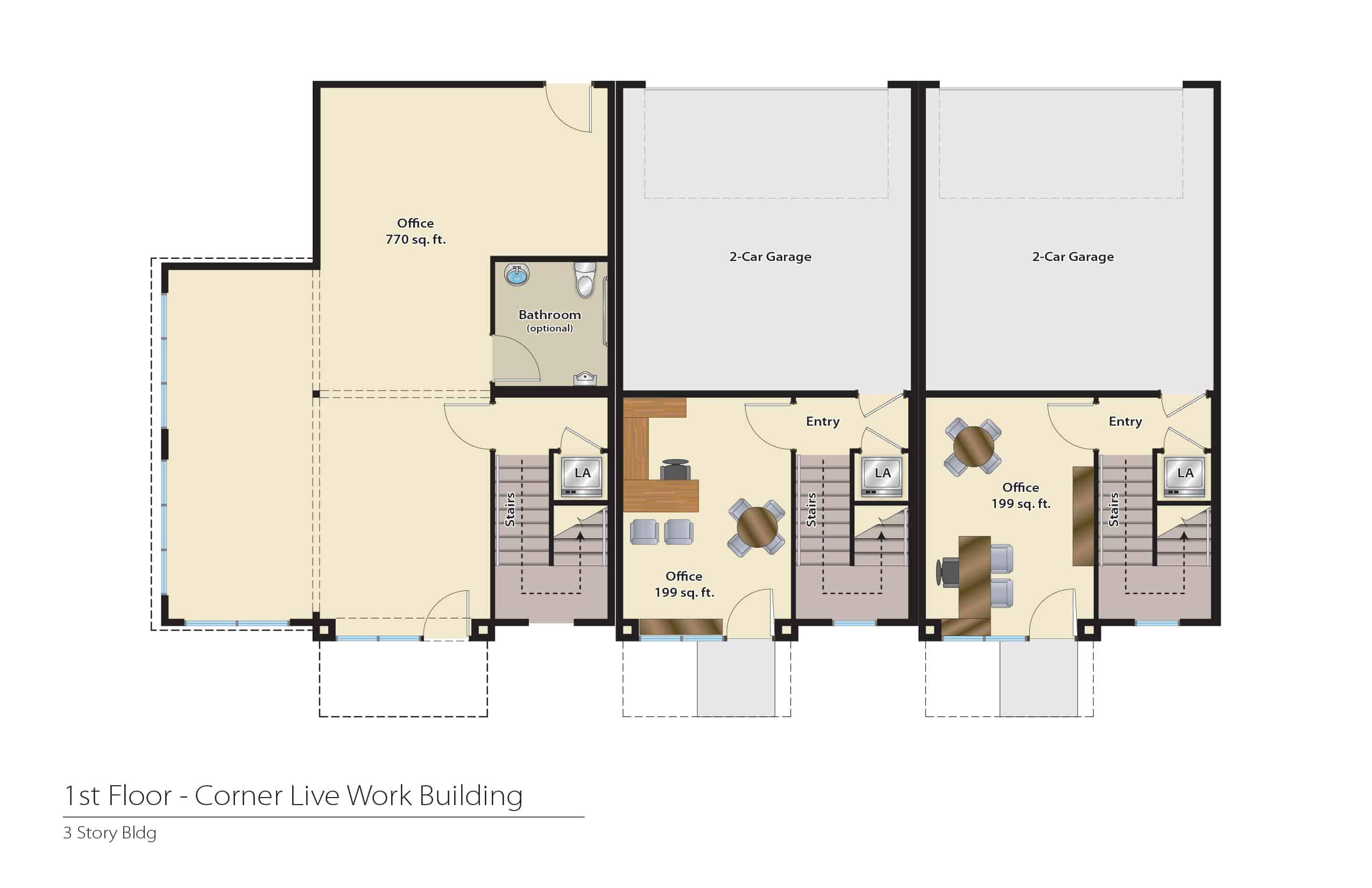 1612 Fulton - Plan C | First Floor