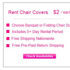 Chair Covers For Folding Chairs Rent Step 2 Desk Rentals Free Shipping Nationwide My Wedding Button