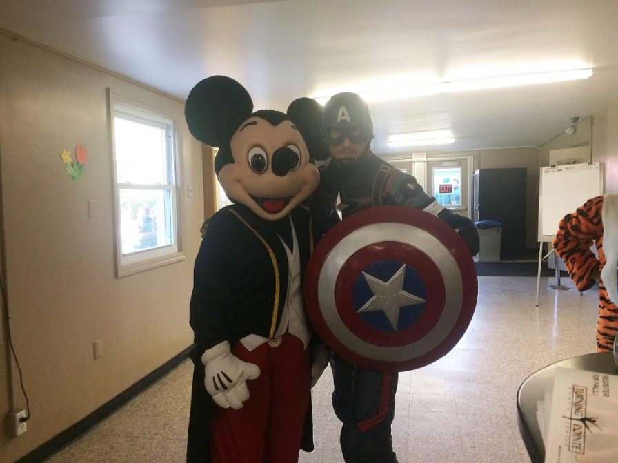 Captain America and Mickey Mouse