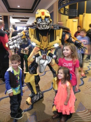 Bumblebee at birthday party