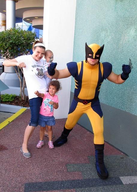 Wolverine visits little girls birthday