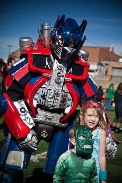 Optimus Prime at kids birthday