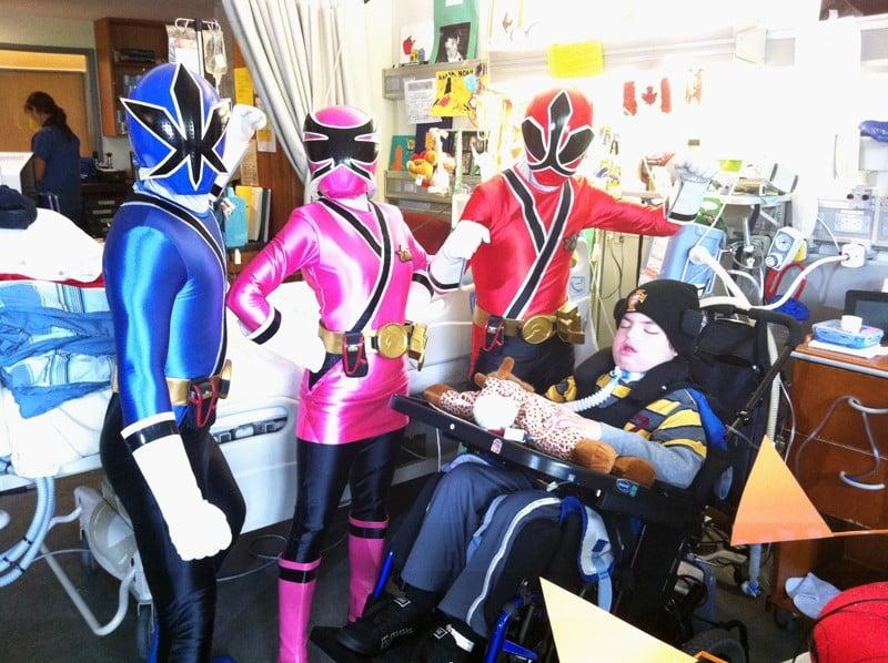 Power Rangers hosiptal visit