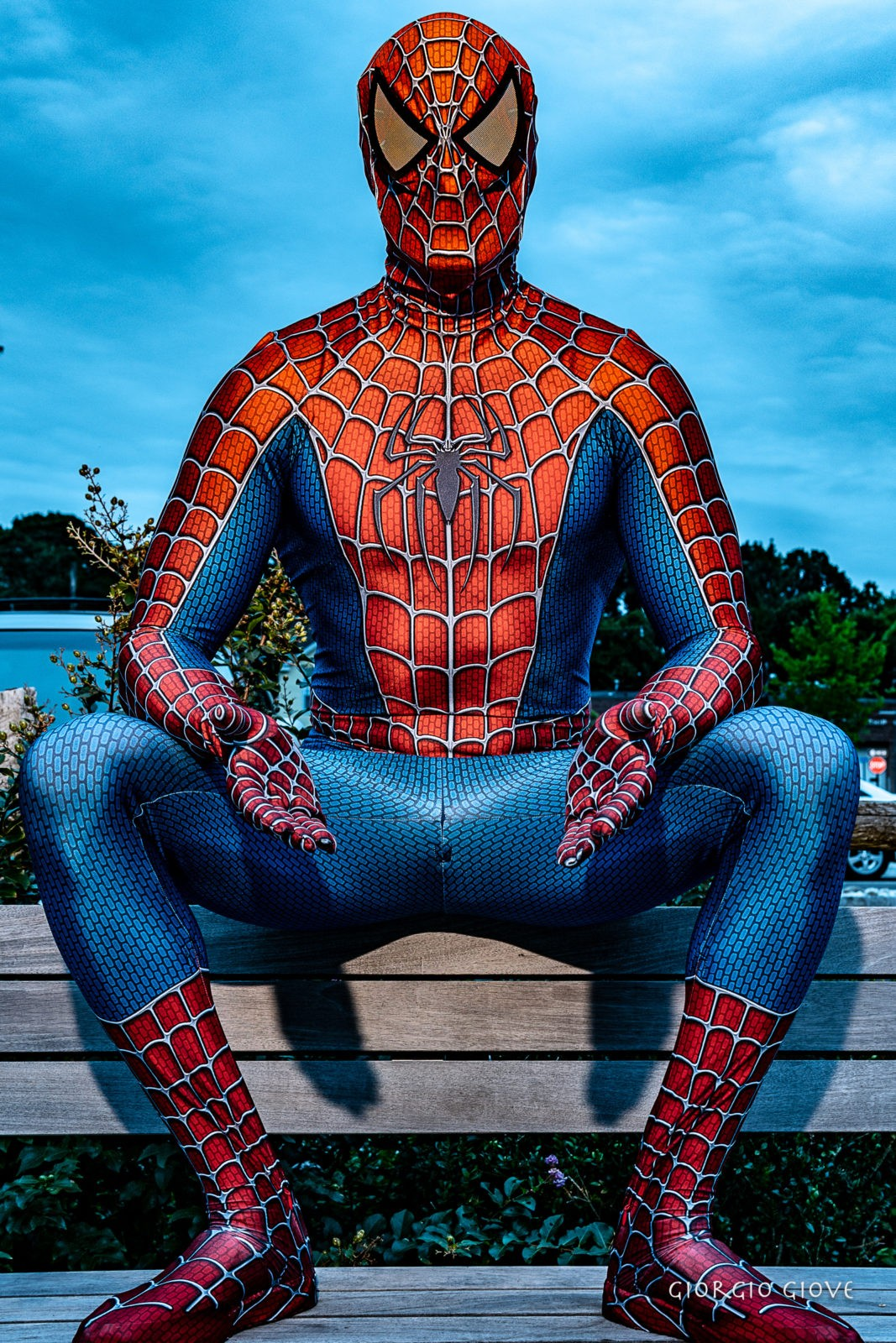 Spider Man in the moment