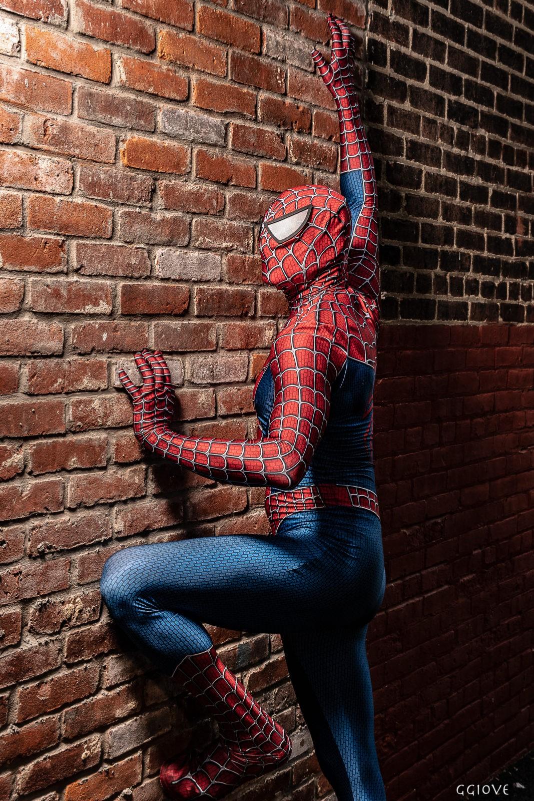 Spider Man having fun