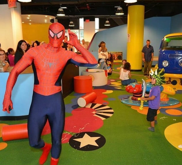 spider Man at party