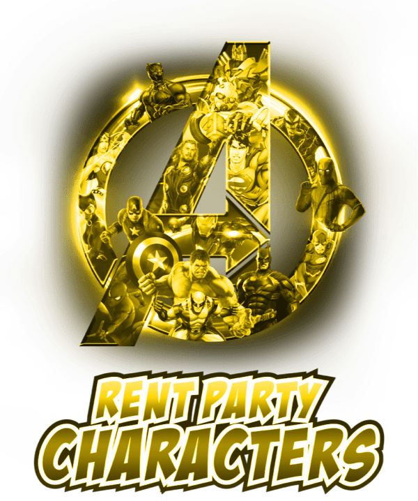 Gold tint logo aof Rent Party Characters