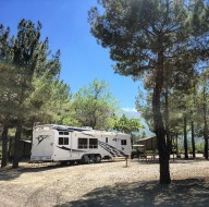 trailer at campground