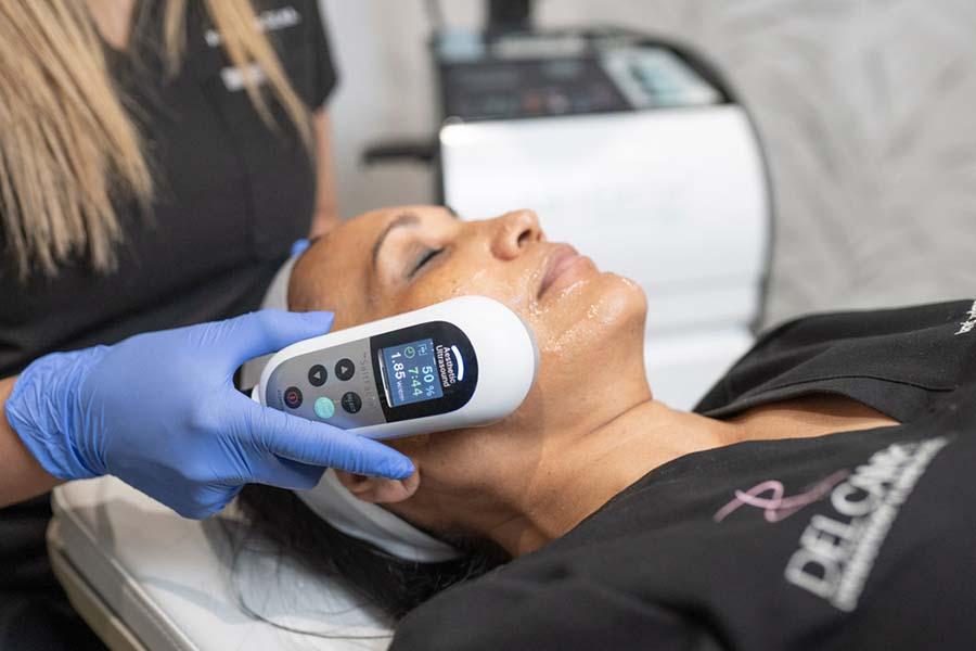 Renu MedSpa Salt Facial procedure
