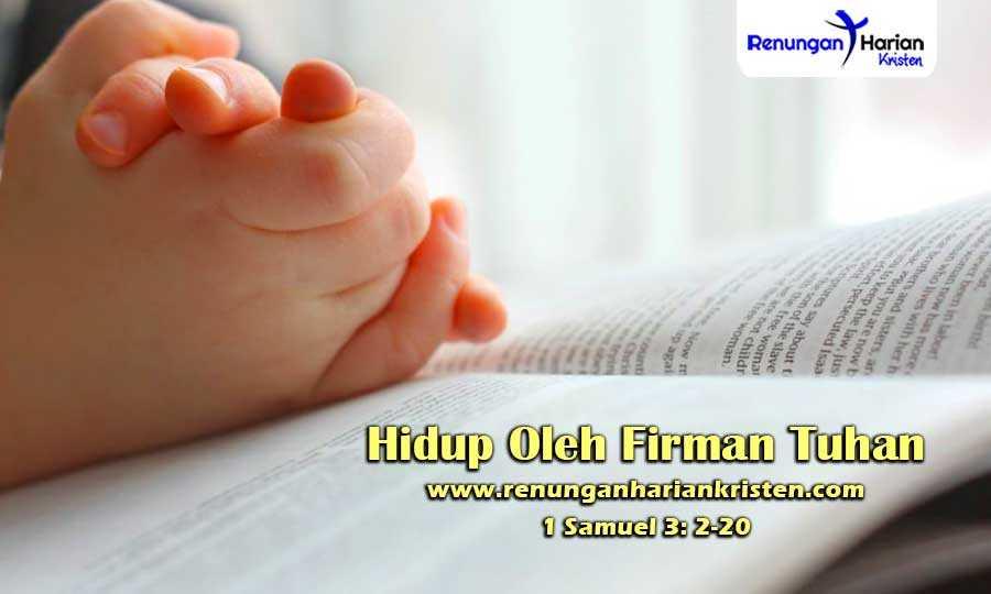 Renungan-Harian-Anak-1-Samuel-3-2-20-Hidup-Oleh-Firman-Tuhan