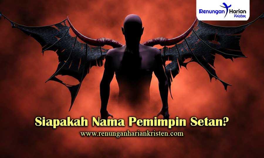 Siapakah-nama-pemimpin-Setan