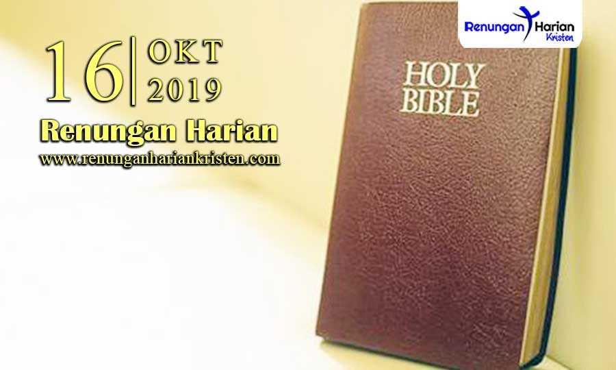 Renungan-Harian-16-Oktober-2019