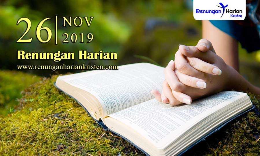 Renungan-Harian-Terbaru-26-November-2019