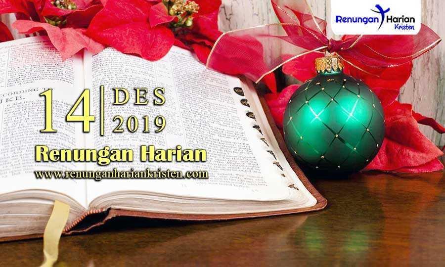 Renungan-Harian-Terbaru-14-Desember-2019