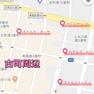 古町周辺のマップ