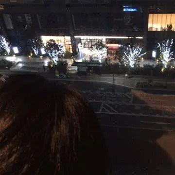 ホテルエリアワンから見えるクリスマスイルミネーション
