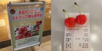 展示即売会で買ったさくらんぼの食品サンプル