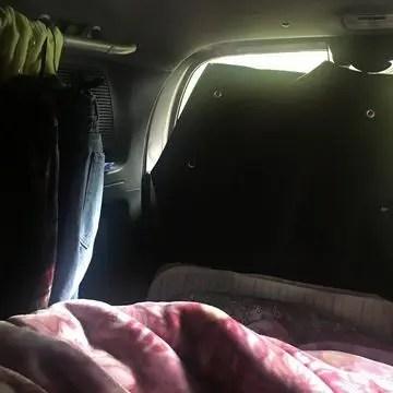 フリードスパイク車内で迎える朝