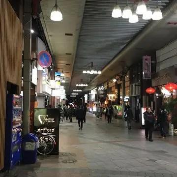 郡山駅前アーケード商店街の夜