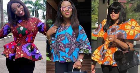 Ankara tops with different shades