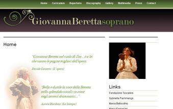 Soprano Giovanna Beretta