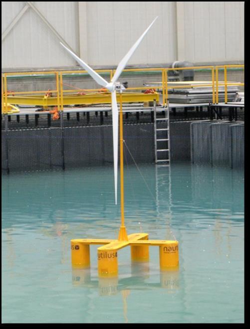 Winfloat - Proyecto de aerogeneradores flotantes en la costa de Portugal.