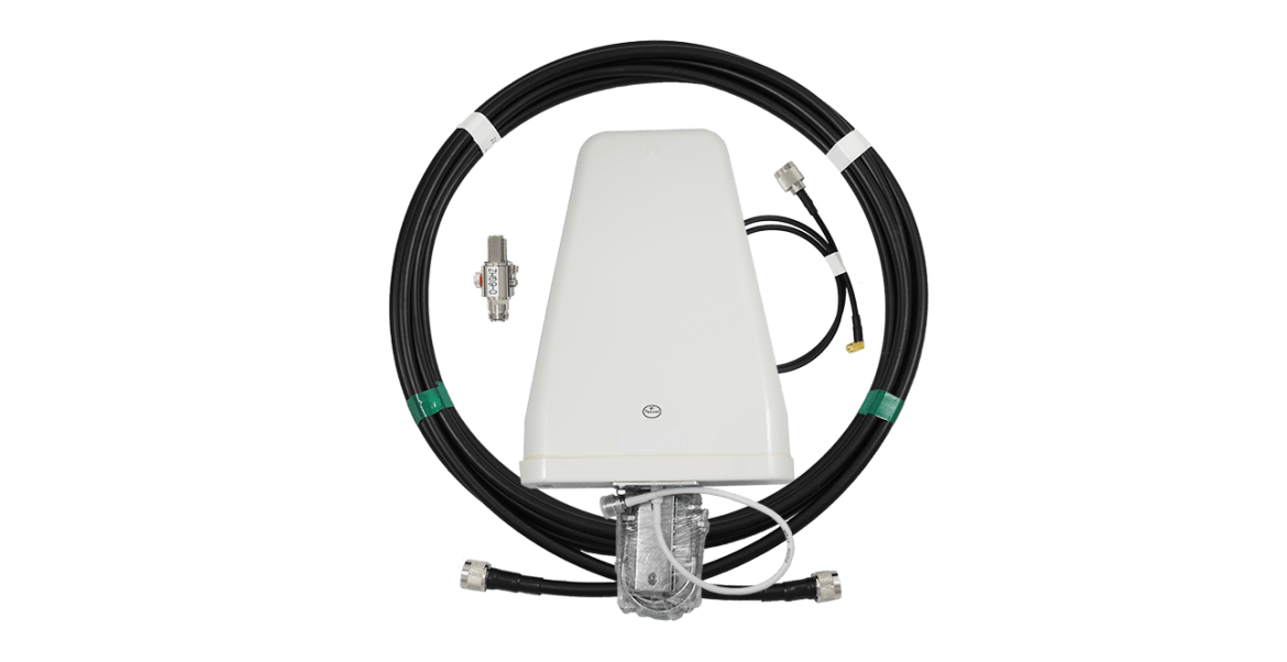 Yagi 698-960/1710-2700 MHz, surge protector, cables