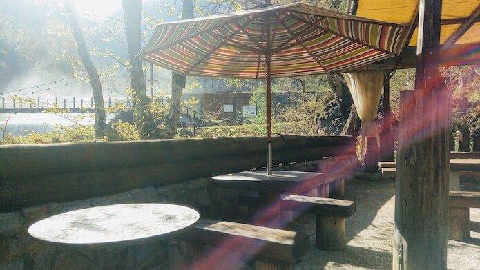 カフェグランのテラス