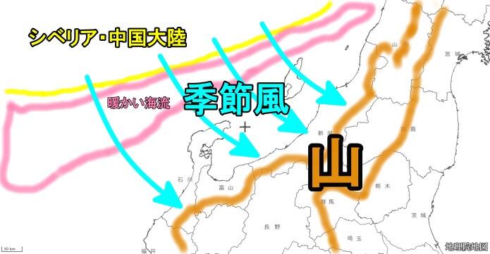 冬の日本海側のイメージ