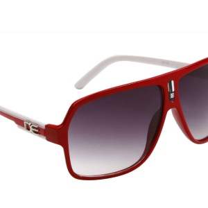 DE Stunnas Two Tone Temples Red and White